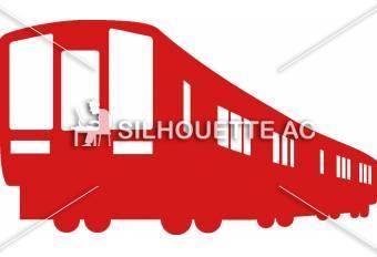 電車のシルエットイラスト 赤   電車|シルエット イラストの無料ダウンロードサイト「シルエット