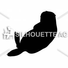 ラッコ シルエット イラストの無料ダウンロードサイト シルエットac
