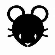 ねずみ(黒)|シルエット イラストの無料ダウンロードサイト