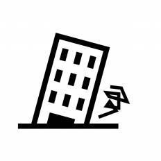 地震|シルエット イラストの無料ダウンロードサイト「シルエットAC」