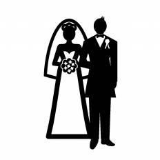 新婚 シルエット イラストの無料ダウンロードサイト