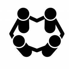 4人組 シルエット イラストの無料ダウンロードサイト シルエットac
