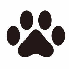 犬の足跡 シルエット イラストの無料ダウンロードサイト シルエットac