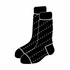 靴下|シルエット イラストの無料ダウンロードサイト