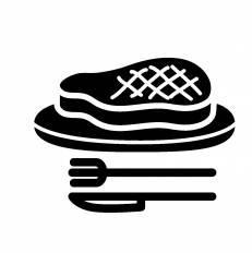 ステーキ|シルエット イラストの無料ダウンロードサイト