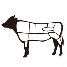 牛|シルエット イラストの無料ダウンロードサイト「シルエットAC」