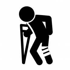 怪我|シルエット イラストの無料ダウンロードサイト「シルエットAC」