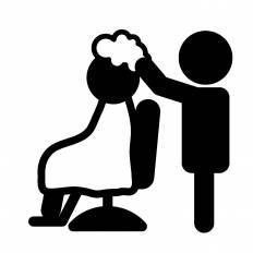 美容院|シルエット イラストの無料ダウンロードサイト「シルエットAC」