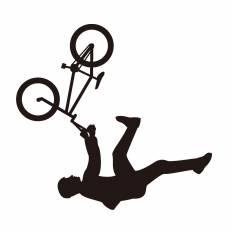 BMX|シルエット イラストの無料ダウンロードサイト「シルエットAC」